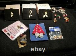 139 pc Lot Vtg Avon Brooch Pin Benefits St. Jude Children Research Charity