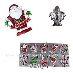 480 pieces Brooch Pin Vintage Rhinestone Christmas Snowmen Tree Gift Xmas Lots