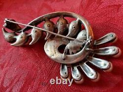 Antique Jewelry Vintage EISENBERG ORIGINAL Huge Clear Rhinestone Pearl 4Brooch