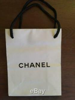 Authentic Vintage CHANEL BROOCH Gold Plated Rhinestone CC Logo with Box & Bag