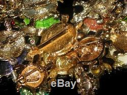 Big Vintage Estate Turtle Brooch Pin Jewelry Lot Monet Ab Rs Pave Rare Gift Look