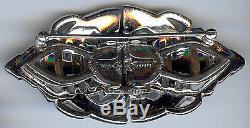 Coro Duette Vintage Art Deco Dazzling Rhinestone Fur Clip Pin Brooch