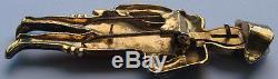 Coro Rare Vintage Enamel Rhinestone Napoleon Movable Eyes Pin Brooch Fur Clip