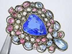 Dazzling Rare Vintage Hobe Jewelry Pin Brooch 2.25