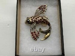 Eisenberg Original Sterling Vintage 1940s Vermeil Flying Fish Brooch Rare