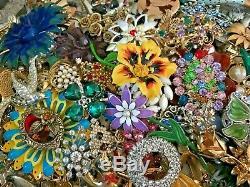 Estate (20 lbs / 650+ pieces) Brooch/Pin Resale Job Lot Vintage/Mod