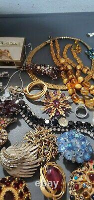Gorgeous JEWELRY LOT Vintage Antique Art Deco rare Brooches signed 2000$ off SP