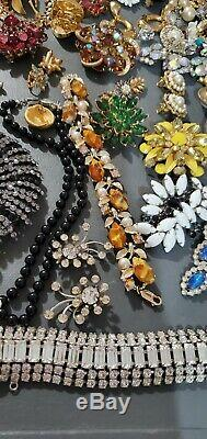 Gorgeous JEWELRY LOT Vintage Antique Art Deco rare Brooches signed and book pei
