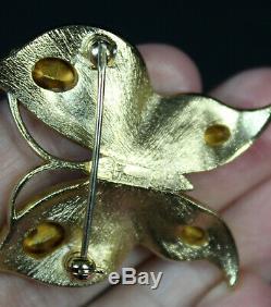 Gorgeous Vintage Alfred Philippe Crown TRIFARI Butterfly Brooch Rhinestones