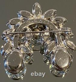 Gorgeous Vintage Eisenberg Rhinestone Brooch