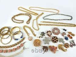 High Quality Vintage Lot Necklace Brooch Bracelet Earrings Rhinestone Costume
