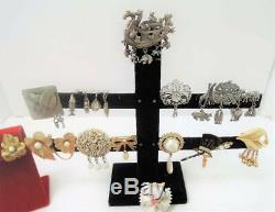 Huge Lot Of Vintage Brooches! Designer Signedrhinestonedangling+-138