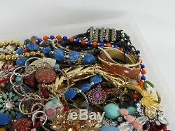 Huge Vintage Now Jewelry Lot Costume Rhinestone Bracelet Brooch Necklace 17LBS C