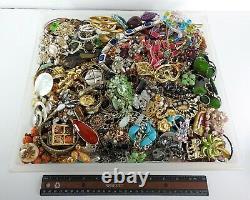 Huge Vintage Now Jewelry Lot Rhinestone Necklace Bracelet Earring Brooch 21LBS A