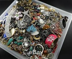 Huge Vintage Now Lot Rhinestones Jewelry Bracelet Brooch Necklace 18 LBS Pound