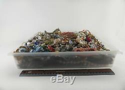 Huge Vintage Now Lot Rhinestones Jewelry Bracelet Brooch Necklace 20 LBS Pounds