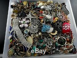 Huge Vintage Now Lot Rhinestones Jewelry Bracelet Brooch Necklace 21 LBS Pounds