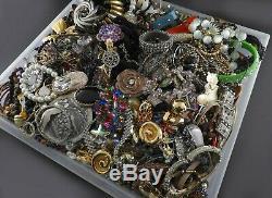 Huge Vintage Now Lot Rhinestones Jewelry Bracelet Brooch Necklace 23 LBS Pound