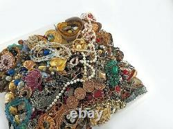 Huge Vintage Now Lot Rhinestones Jewelry Bracelet Earrings Necklace Brooch 21LBS