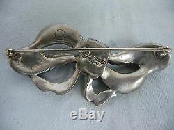 Lovely Vintage Eisenberg Original Rhinestone Bow Brooch