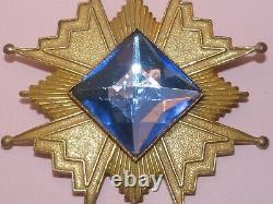 Miriam Haskell vintage 1950s gold tone Maltese Cross brooch