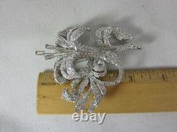 Nolan Miller Vintage Crystal Rhinestone Iris Flower Large Pin Brooch GORGEOUS