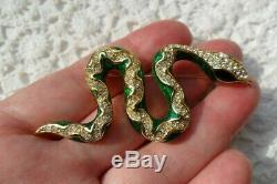 RARE Vintage Authentic Christian Dior Snake Brooch Pin Signed Germany 1960s