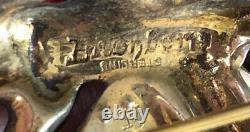RARE Vintage EISENBERG Sterling Silver Red Rhinestone BALLERINA Brooch Pin
