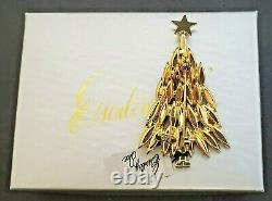 RARE Vintage Eisenberg Ice Large Green Christmas Tree Brooch Pin w Tag & Box