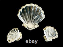 Rare 1949 Trifari A. Philippe Moonshell Jelly Belly Clip/brooch & Earring Set