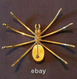 Rare Oversized Christmas Spider Brooch Pin Signed Germany STUNNING Vintage Piece
