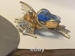 Rare Vintage Marcel Boucher Brooch Rhinestone Fantasy Rock Fish Pin Figural
