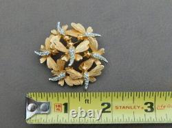 Rare Vintage Marcel Boucher Rhinestone Dragonfly Butterfly Trembler Pin brooch