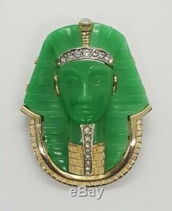 Rare, Vintage, Signed/Numbered Parisian, Marcel Boucher Figural King Tut Brooch