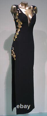 Rare Vtg Gianni Versace Large Medusa Safety Pins Brooch from SS 94 iconic dress
