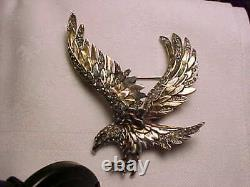 Rare vintage attributed Boucher sterling silver eagle pin brooch
