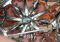SPECTACULAR RARE Wiesner Signed Vintage Rhinestone Embedded Star Brooch