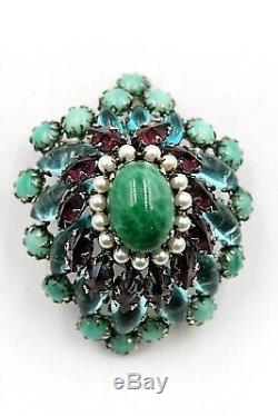 Schreiner Of Ny Rare Vintage Large 5 Level Pin Brooch Perfect Condition