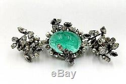 Schreiner Of Ny Rare Vintage Wide Bar Pin Brooch Is In Perfect Condition
