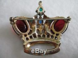 Trifari Crown Vintage Signed Sterling and Numbered Brooch