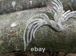 VINTAGE Brooch Crown Trifari Fantasy Bird 159923 Alfred Philippe Pat Pend Repair