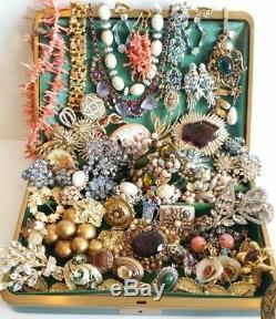 VNTG Jewelry Rhinestone Lot Brooches Sets FLORENZA Benedikt BSK Weiss Juliana