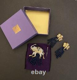 VTG Elizabeth Taylor for Avon Elephant Clip Earrings Brooch (Brooch For Rapier)