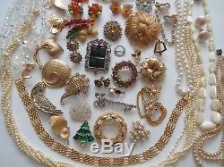 VTG Hight End Rhinestone Brooch Necklace Earrings Lot Trifari Kramer # 2