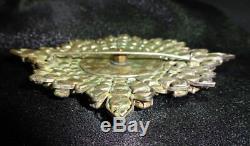 VTG Order of the Garter Rhinestone Breast Star Brooch Pin 4 1/2 See photos