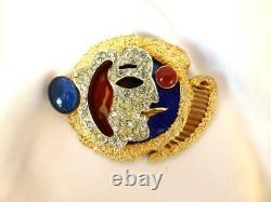 Vintage 1960's VENDOME Cubist Georges Braque Le Fumeur Smoker Brooch Pin