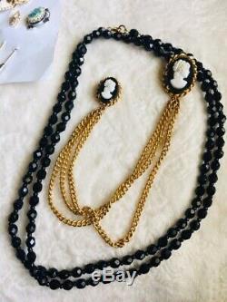 Vintage Antique Victorian Art Deco Lot Of 55 Brooch Bracelet Rhinestone Jewelry