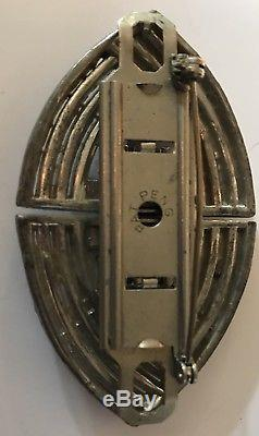 Vintage Art Deco Dazzling Rhinestone Duette Fur Clip Pin Brooch