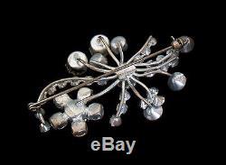 Vintage Austrian Crystal Rhinestone Brooch/Pin Unsigned Mid 20th Century