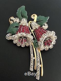 Vintage BOOK PIECE Coro Duette Pin Brooch Bell Flower Adolph Katz Bellflower'29
